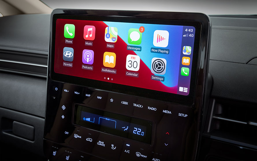 """10.25"""" touchscreen with Sat Nav, Apple CarPlay<sup>TM[P2]</sup> and Android<sup>TM[P3]</sup> Auto"""