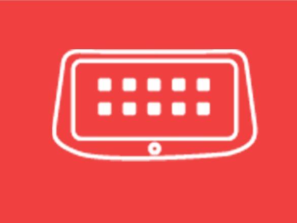 "10.25<sup>""</sup> multimedia touchscreen display with Apple CarPlay<sup>TM[P1]</sup> & Android<sup>TM[P2]</sup> Auto."