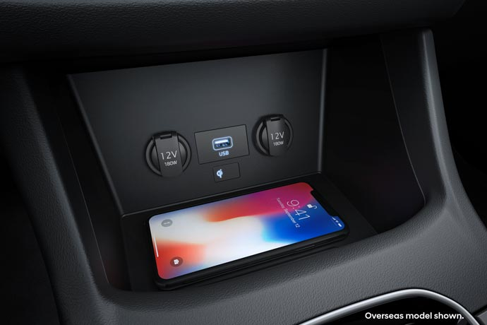 Wireless charging<sup>[P3]</sup>.