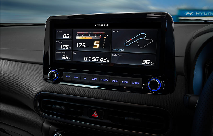"10.25"" multimedia touchscreen display."