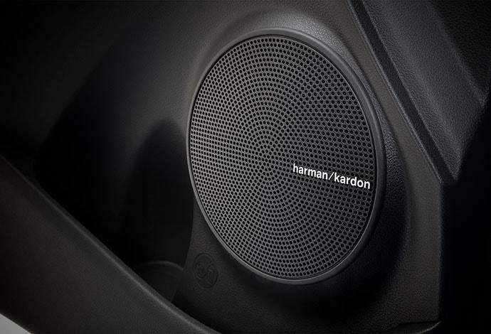 Harman Kardon<sup>TM</sup> 8-speaker premium audio system.