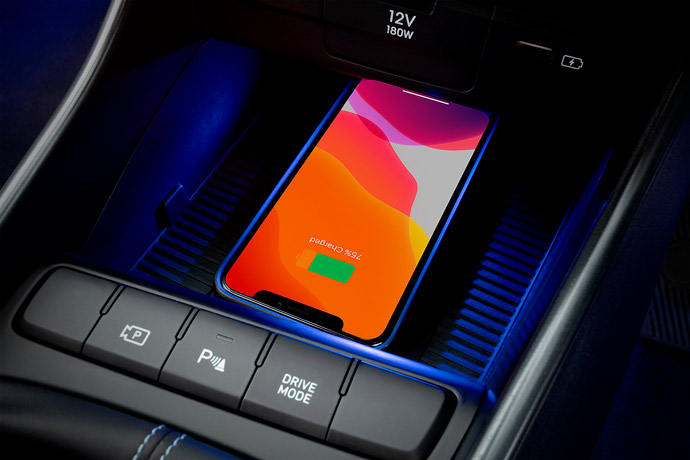 Wireless smartphone charging<sup>[P3]</sup>.